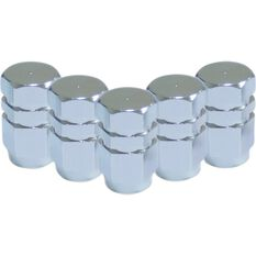 SCA Valve Stem Caps - Silver, 5 Pack, , scanz_hi-res