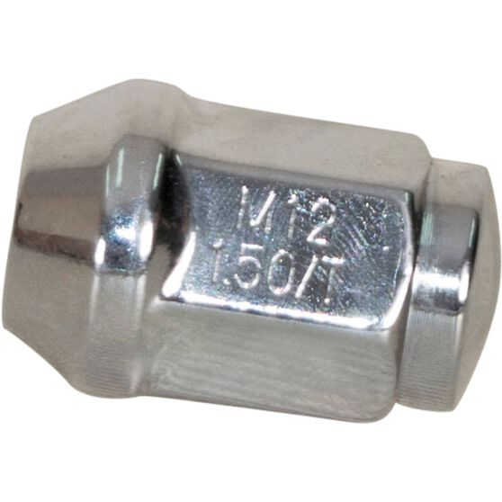 Calibre Wheel Nuts, Tapered, Chrome - SN12150, 12mm x 1.5mm, , scanz_hi-res