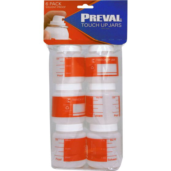 Preval Touch Up Jars - 6 Pack, , scanz_hi-res
