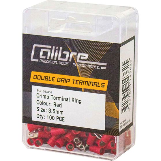 Crimp Terminal Ring Red 3.5mm 100Pk, , scanz_hi-res