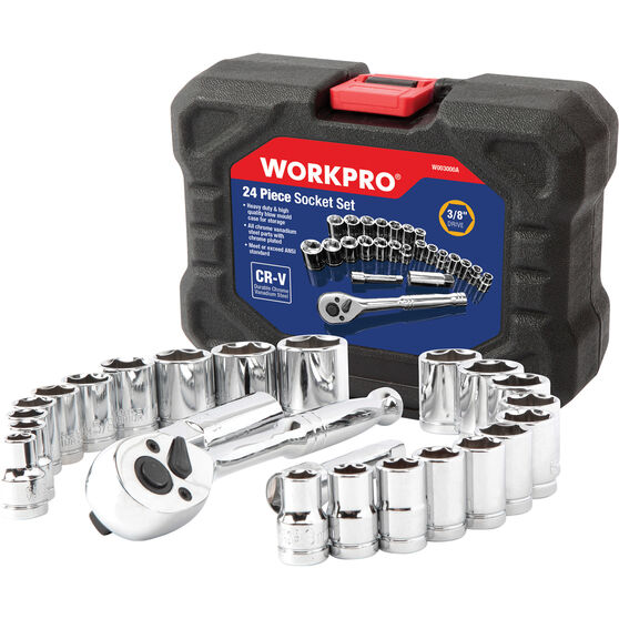 WORKPRO Socket Set - 24 Piece, , scanz_hi-res
