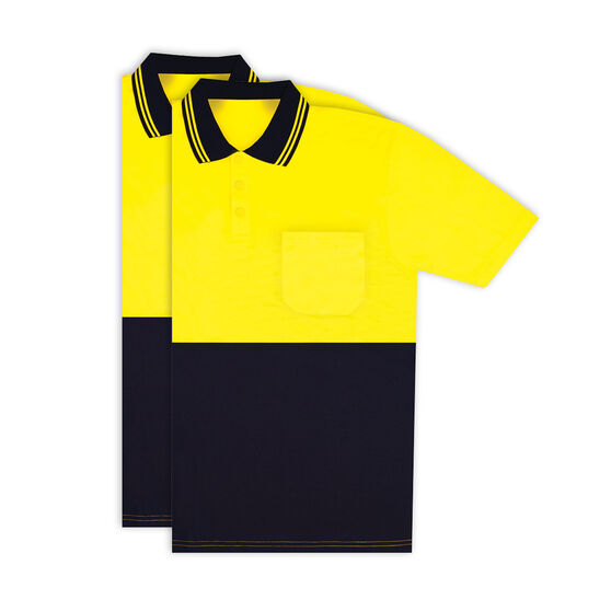 Hi Vis Short Sleeve Polo - Yellow 2 Pack, , scanz_hi-res