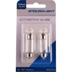 Enduralight Festoon Bulb - 12V, 21W, 15 x 41, ENDG1035, , scanz_hi-res