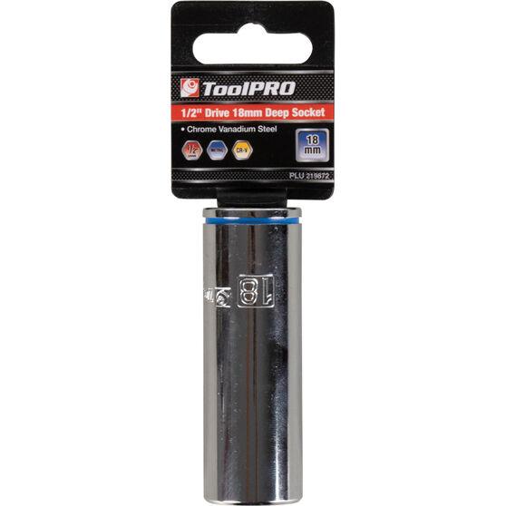 """ToolPRO Single Socket - Deep, 1/2"""" Drive, 18mm, , scanz_hi-res"""