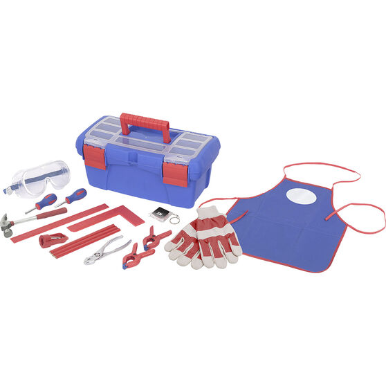 Kids 16 piece tool kit with toolbox, , scanz_hi-res