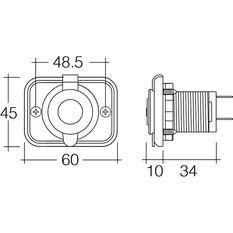 5V Dual USB Socket - 2.5 Amp, Flush Mount, , scanz_hi-res
