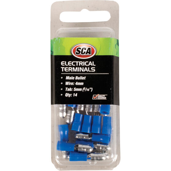 SCA Electrical Terminals - Male Bullet, Blue, 5mm, 14 Pack, , scanz_hi-res