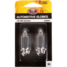 Automotive Globe - Festoon, 12V, 18W, 2 Pack, , scanz_hi-res