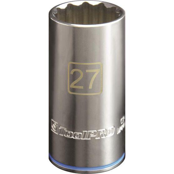 ToolPRO Single Socket - Deep, 1 / 2 inch Drive, 27mm, , scanz_hi-res