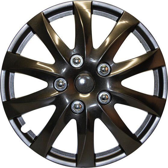 SCA Wheel Covers - Titanium, Silver, 14in, Set of 4, , scanz_hi-res
