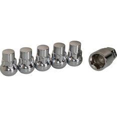 Calibre Wheel Nuts, Tapered Slim, Chrome - SLN14150, 14mm x 1.50mm, , scanz_hi-res