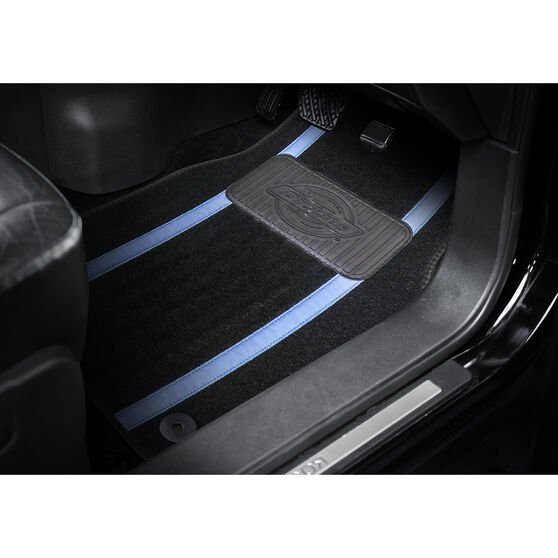 Dickies Roadhouse Carpet Car Floor Mats Black/Blue Front Pair, , scanz_hi-res