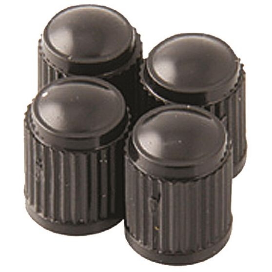 SCA Valve Caps - Standard Black, 4 Piece, , scanz_hi-res