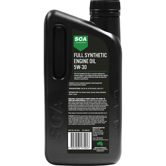 SCA Full Synthetic Engine Oil 5W-30 1 Litre, , scanz_hi-res