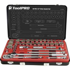 "ToolPRO Socket Set 1/2"" Drive Metric/SAE 40 Piece, , scanz_hi-res"