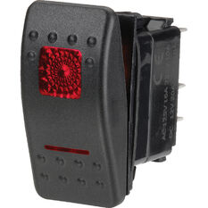 Narva Rocker Switch - Off/On, Sealed Switch, Red LED, , scanz_hi-res
