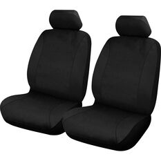 Neoprene Seat Covers - Black, Adjustable Headrests, Size 30, Front Pair, Airbag Compatible, , scanz_hi-res