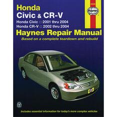 Haynes Car Manual For Honda Civic / CR-V 2001-2010 - 42026, , scanz_hi-res