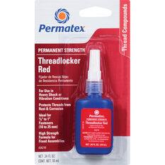 Permatex Threadlocker - Permanent Strength, Red, 10mL, , scanz_hi-res