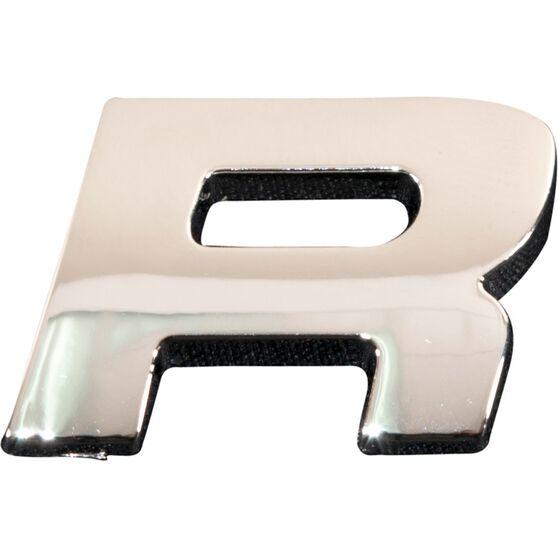 SCA 3D Chrome Badge Letter R, , scanz_hi-res