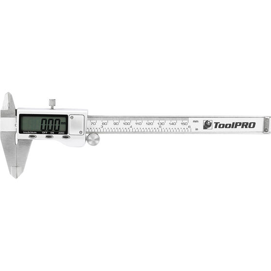 ToolPRO Caliper Vernier w /  Case - Digital, Stainless Steel, 150mm, , scanz_hi-res
