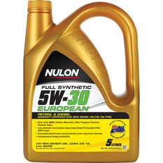 Nulon European Full Synthetic Engine Oil 5W-30 5 Litre, , scanz_hi-res