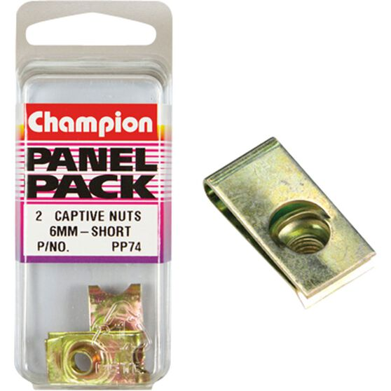 Champion Short Captive Nuts - 6mm, PP74, , scanz_hi-res
