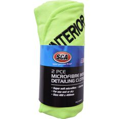 SCA Microfibre Interior Detailing Cloths - 2 Pack, , scanz_hi-res