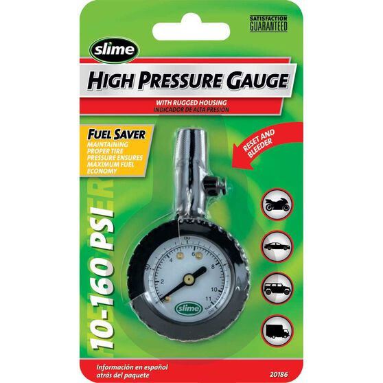Slime High Pressure Tyre Gauge - 10-160 PSI, , scanz_hi-res