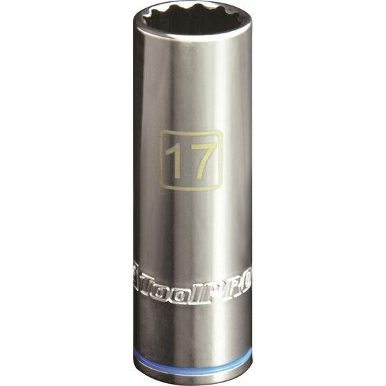 ToolPRO Single Socket - Deep, 1 / 2 inch Drive, 17mm, , scanz_hi-res