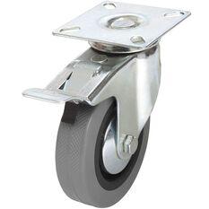 SCA Caster Wheel - 100 x 25mm, Metal Brake, Swivel, , scanz_hi-res