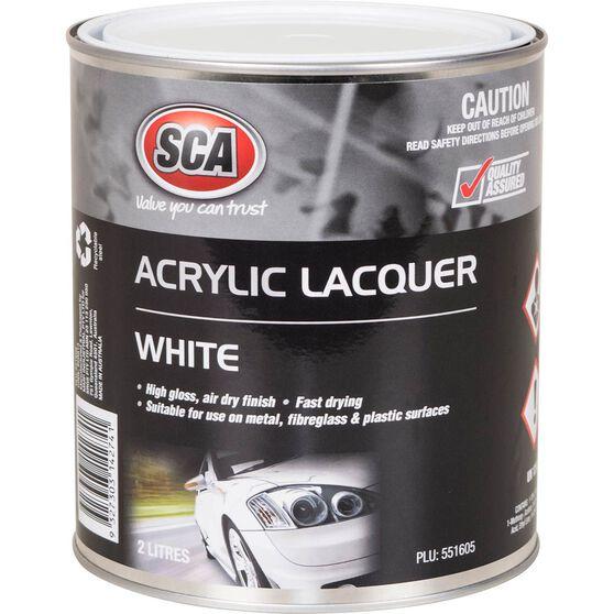 SCA Acrylic Paint - White, 2 Litre, , scanz_hi-res