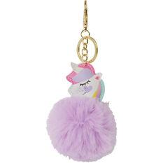 Pom Pom Keyring - Unicorn, , scanz_hi-res