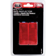 SCA Reflector - Red, 70 x 28mm, Rectangle, 2 Pack, , scanz_hi-res