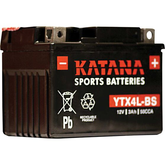 Katana Powersports Battery YTX4L-BS, , scanz_hi-res