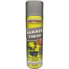 Aerosol Paint - Hammer Finish, Metallic Silver, 400g, , scanz_hi-res