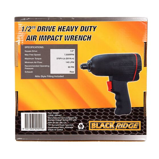 """Blackridge Heavy Duty Air Impact Wrench - 1/2"""" Drive, , scanz_hi-res"""