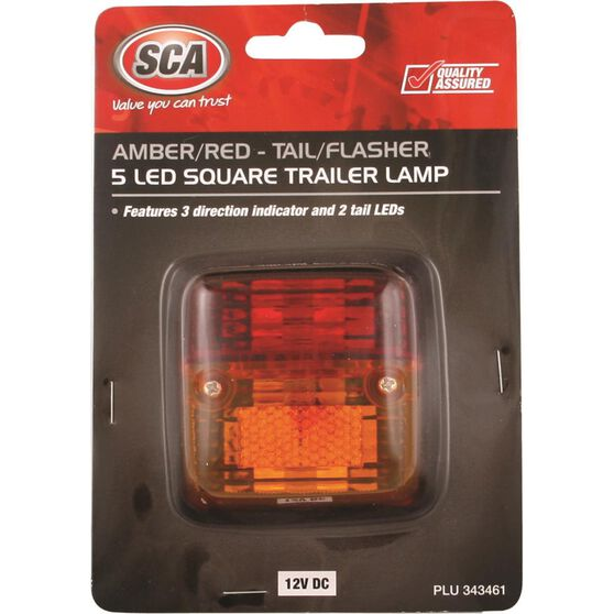 Trailer Lamp - Square, LED, Combination, , scanz_hi-res