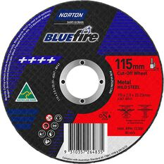 Norton Metal Cut off Disc - 115mm x 2.5mm x 22mm, , scanz_hi-res