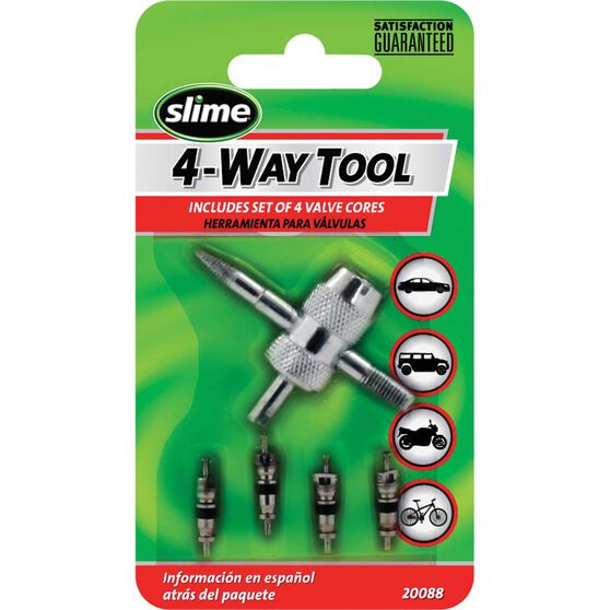 Slime 4-Way Valve Tool with Cores - 5 Piece, , scanz_hi-res