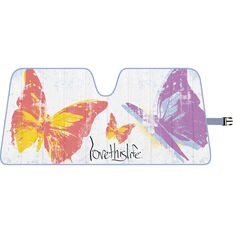 Love This Life Butterfly Sunshade - Fashion, Accordion, Front, , scanz_hi-res