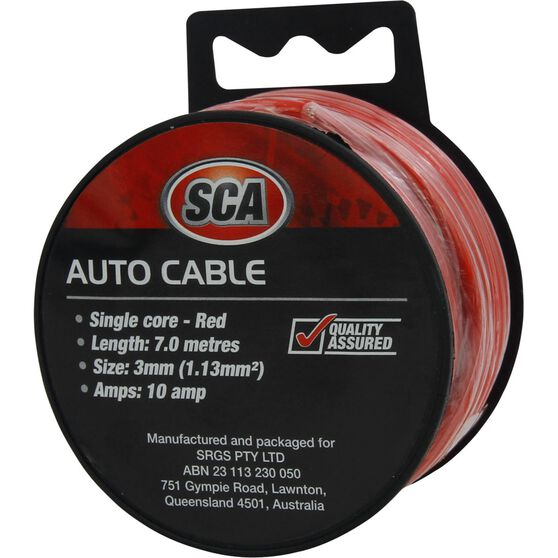 SCA Auto Cable - 10 AMP, 3mm, 7m, Red, , scanz_hi-res