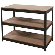 3 Shelf Workbench - Powder Coated, 1150mm, 250kg, , scanz_hi-res
