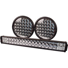 "Driving Light Combo Kit - 9"" Driving Lights, 21"" Driving Light Bar, LED, with Harness, , scanz_hi-res"