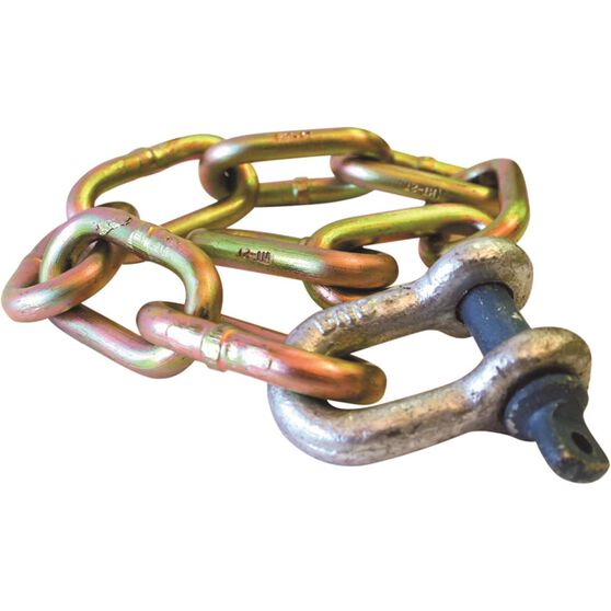 Trojan High Tensile Safety Chain And Shackle - 2000kg, 335108, , scanz_hi-res