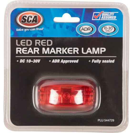 SCA Side Marker - LED, Red, 10-30V, , scanz_hi-res