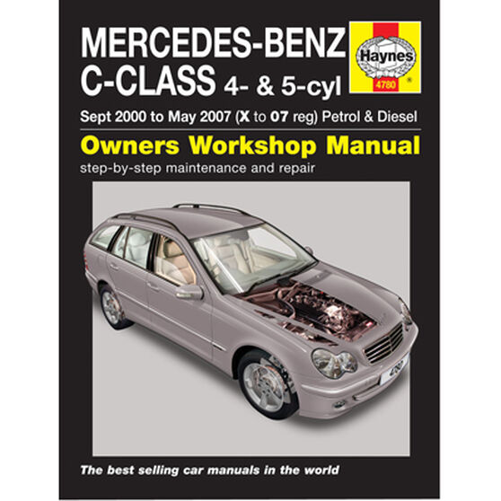 Haynes Car Manual For Mercedes Benz C Class 2000-2007 - 4780, , scanz_hi-res