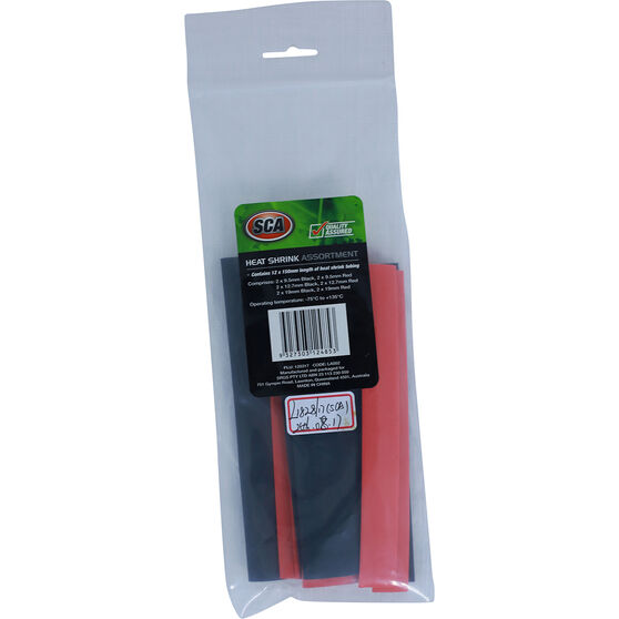 SCA Assorted Heat Shrink Tubing - 9.5 - 19.0mm, , scanz_hi-res