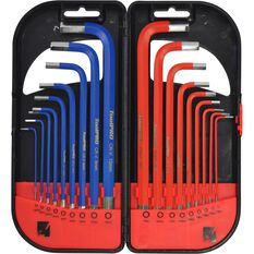 ToolPRO Long Hex Key Set - Metric & SAE, 18 Pieces, , scanz_hi-res