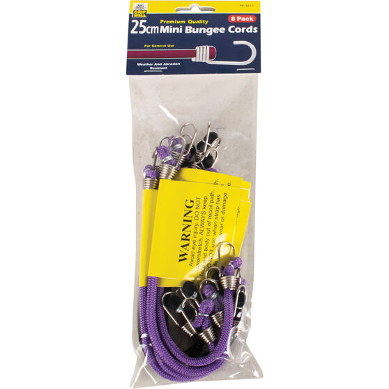Gripwell Mini Bungee Cord - 25cm, 8 Pack, , scanz_hi-res